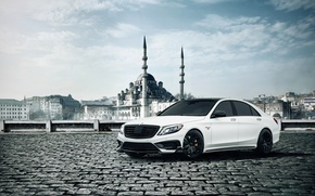 Picture Mercedes-Benz, Brabus, Front, AMG, White, B63