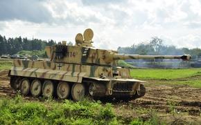 Picture tank, Tiger, armor, German, PzKpfw VI, SdKfz 181, heavy