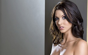 Wallpaper brunette, Alice Goodwin, look, sexy