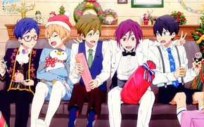 Picture Nanase Haruka (Free!), Matsuoka Rin, Hazuki Nagisa, Ryugazaki Rei, Tachibana Makoto, Kyoto Animation, Free!