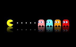 Picture background, the game, Pac Man
