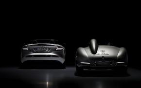 Picture sports car, Mercedes, metallic, Bens