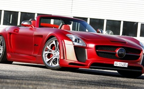 Picture Roadster, Mercedes-Benz, red, Mercedes, AMG, AMG, 2013, FAB Design, Jetstream, R197, SLS 63