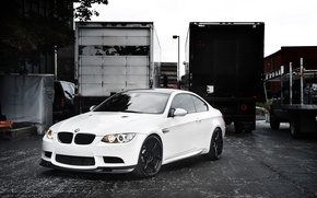 Picture white, trucks, BMW, BMW, white, E92
