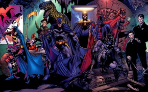 Picture Heroes, Batman, characters, Harley Quinn, heroes, dc universe, batwoman, Harley Quinn, alfred, Alfred