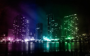 Picture city, night, awesome, buildings