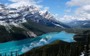 Picture the sky, mountains, lake, Canada