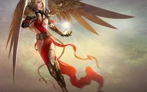Picture girl, magic, wings, art, braid, TamplierPainter