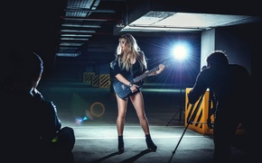 Picture girl, guitar, entry, Record