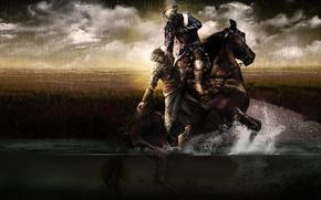 Picture field, swamp, assassins creed, assassin, Ezio