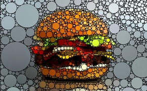 Picture circles, creative, graphics, hamburger
