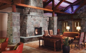 Picture design, style, furniture, interior, fireplace