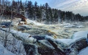 Picture landscape, bridge, river