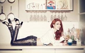 Picture girl, music, singer, Asian, K-pop, South Korea, RainBow