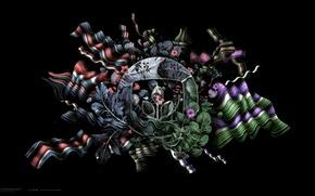 Picture flowers, emblem, desktopography
