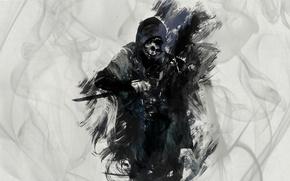 Picture game, art, knife, killer, art, knife, dishonored, corvo attan, Corvo