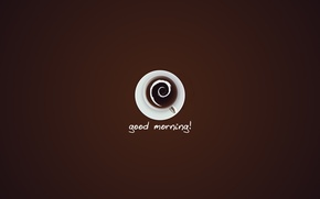 Picture text, coffee, Cup, words, good morning