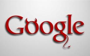 Picture logo, devil, minimalism, google