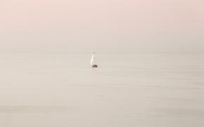 Wallpaper sea, boat, sail