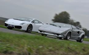 Picture background, Lamborghini, Gallardo, the front, and, supercars, Countach, Lamborghini, Gallardo, Countach