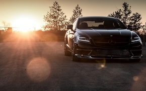 Picture 2015, Mercedes-Benz, black, Black, sedan, AMG, C218, Sedan, CLS 63, Mercedes, CLK-Class