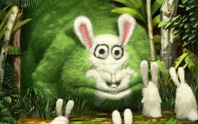 Picture figure, monster, Rabbits
