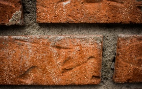 Picture red, wall, brick, cement