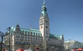 Picture Hamburg, dom, Town hall