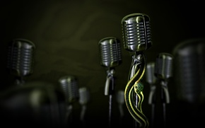 Picture snake, microphone