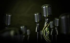Wallpaper snake, microphone