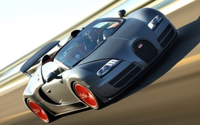 Picture Roadster, speed, track, car, Bugatti Veyron, hypercar, Grand Sport, Vitesse