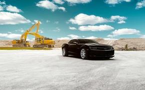 Picture Chevrolet, Camaro, Front, Black, Wheels, VMB8, Velgen