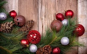 Picture balls, balls, toys, Board, branch, New Year, Christmas, bumps, pine, Christmas