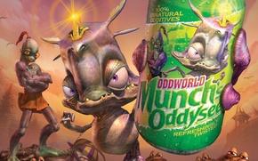 Picture soda, mudokon, oddworld