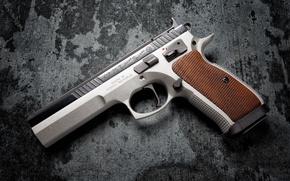 Wallpaper gun, background, CZ 75
