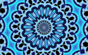 Picture circles, blue, curves, psychedelic