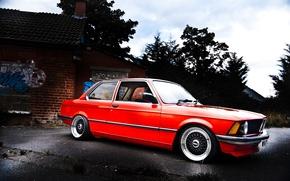 Picture BMW, red, E21