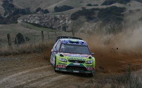Picture Ford, Ford, Skid, Focus, WRC, Rally, Focus, The front, Jari-Matti Latvala