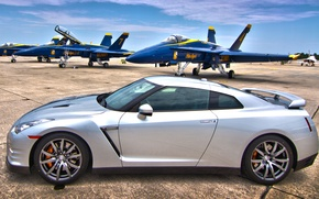 Picture fighters, nissan gtr, military airfield