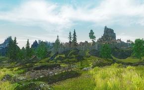 Picture landscape, figure, Skyrim, Whiterun