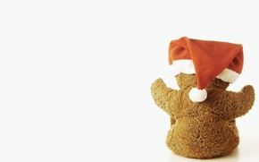 Picture holiday, hat, bear, bear, light background, teddy