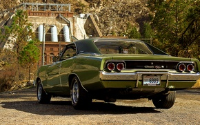 Wallpaper Dodge, retro, 1968, classic, Charger