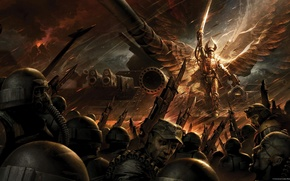 Picture Warhammer 40000, guard, Angel of Fire, Solar Macharius, Lord, lasgana, deadly blade