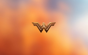 Wallpaper logo, yuusha, Gal Gadot, Diana, orange, Justice League, Diana Prince, yellow, DC Comics, cinema, film, ...