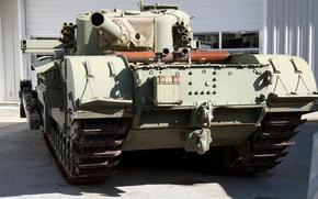 Picture tank, British, heavy, WW2, muzzle-loading mortar, calibre 290 mm, Churchill AVRE