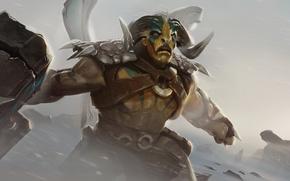Picture art, hero, horns, bull, DotA, Defense of the Ancients, splash artwork, DotA 2, Tauren Chieftain, …
