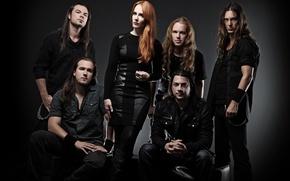 Picture metal, gothic, sympho, Yves Huts, Isaac Delahaye, Simone Simons, Coen Janssen, Ariën Van Weesenbeek, Mark …