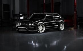 Picture tuning, garage, black, Lada, 2108, eight