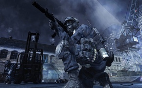 Picture London, Marina, soldiers, Call of Duty, mission, British, SAS, Modern Warfare 3, the gun, Do ...