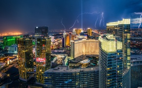 Picture the storm, the city, America, Las Vegas